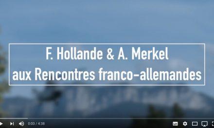 F. Hollande et A. Merkel à Evian